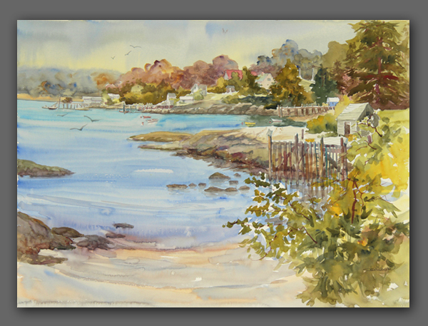 "Jan Kilburn original Watercolor, ""The Cove"""