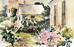 "Jan Kilburn print from original watercolor, ""Laundry Day, Monhegan"""