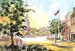 "Jan Kilburn print from original watercolor, ""Market Square, Portsmouth"""