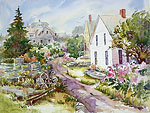 "Jan Kilburn print from original watercolor, ""Monhegan Island"""