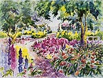 "Jan Kilburn print from original watercolor, ""Summer Park"""