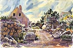 "Jan Kilburn print from original watercolor, ""Swim Beach Monhegan"""