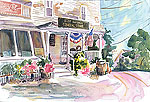 "Jan Kilburn print, ""East Boothbay General Store"""
