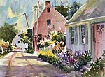 "Jan Kilburn print from original watercolor, ""New England Ambience I"""
