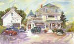 "Jan Kilburn print from original watercolor, ""East Boothbay General Store II"""