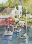 "Jan Kilburn print, ""Boothbay Harbor"""